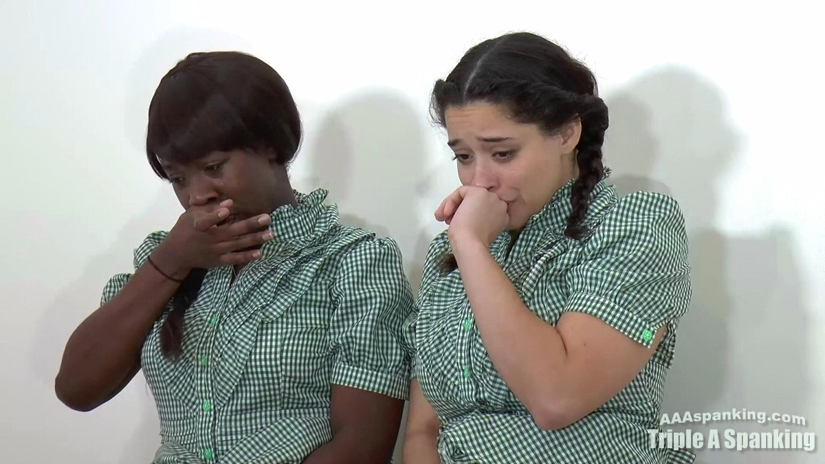 Mackenzie and Nuna Starks in a free spanking and black
